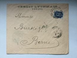 K6 Russia Russie 1899 Brief Von Odessa Nach Bern über Brünn Ungewöhnlich!! - 1857-1916 Imperium