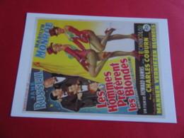 MARILYN MONROE Affiche Belge Film 1953 Les Hommes Préferent Les Blondes  EDIT Hazan N° Actrice Artiste Chanteuse - Entertainers