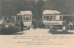 I18 - 20 - Départ D'AJACCIO Tous Les Jours - Départ De SARTENE - Corse - Transport Autobus - Autocars - Automobile - Ajaccio