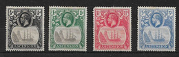 ASCENSION 1924 - 1933 VALUES TO 4d SG 10, 11, 12, 14, 15 MOUNTED MINT Cat £80+ - Ascension