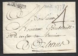 1778 - LAC - ETAMPES (Loiret) 26mm X 5mm A ORLEANS - 1701-1800: Précurseurs XVIII