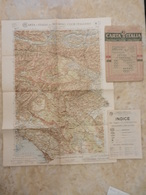6) FRIULI VENEZIA GIULIA FOGLIO 7 BIS TRIESTE CARTA D'ITALIA DEL TOURING CLUB COMPLETO DI INDICE E BUSTA - Cartes Topographiques