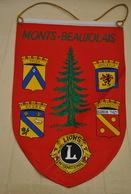 Rare Fanion Lion's Club Monts-Beaujolais - Organizations