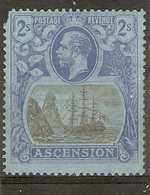 ASCENSION 1924 2s SG 19 LIGHTLY MOUNTED MINT Cat £75 - Ascension