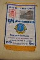 Rare Fanion Lion's Club Tumbes Pérou - Organisations