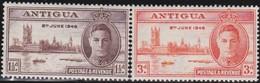 Antigua       .     SG   .       110/111     .  *      .  Ongebruikt      .   /   .   Mint-hinged - 1858-1960 Kolonie Van De Kroon