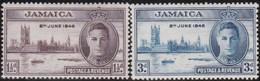 Jamaica       .     SG   .     141/142          .   *      .   Ongebruikt     .   /   .   Mint-hinged - Jamaïque (...-1961)