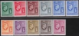 Virgin  Islands      .     SG   .    110a/119a      .       *      .   Ongebruikt     .   /   .   Mint-hinged - Iles Vièrges Britanniques