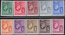 Virgin  Islands      .     SG   .   110/119  Chalk  Paper      .       *      .   Ongebruikt     .   /   .   Mint-hinged - Iles Vièrges Britanniques