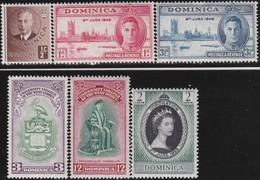 Dominica      .     SG   .   6  Zegels       .       *      .   Ongebruikt     .   /   .   Mint-hinged - Dominique (...-1978)