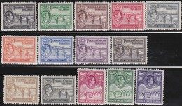 Turks And Caicos   .     SG   .     194/205        .   *      .   Ongebruikt     .   /   .   Mint-hinged - Turks- En Caicoseilanden