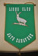 Rare Fanion Lion's Club Alto Canavese - Organisations