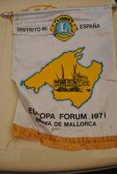 Rare Fanion Lion's Club Palma De Majorque - Organisations