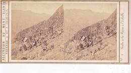Carte Stéréoscopique .   N° 1.  Halte à La Pierre à L'Echelle - Chamonix-Mont-Blanc