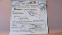 """DR: Paketkarte 1938 """"Gebühr Bezahlt"""" Frauenwald 22.4.38 über Dresden Nach Liberec Tschechoslowakei - Briefe U. Dokumente"""