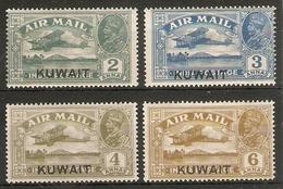 KUWAIT 1933 - 1934 AIR SET SG 31/34 MOUNTED MINT Cat £180 - Kuwait
