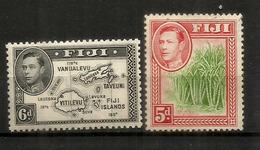 George VI, émission De 1938.  Nr 109-110, Neufs **  Forte Côte   115,00 Euro (carte Des îles) - Fidji (1970-...)