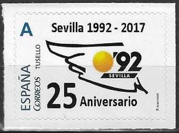 ESPAÑA. TUSELLO. 25 ANIVERSARIO EXPO'92 SEVILLA. - 1931-Hoy: 2ª República - ... Juan Carlos I