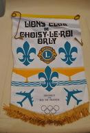 Rare Fanion Lion's Club Choisy Le Roi -Orly - Organisations