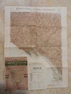 6) TOSCANA FOGLIO 17 PISA CARTA D'ITALIA DEL TOURING CLUB COMPLETO DI INDICE E BUSTA - Cartes Topographiques