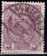 Austria 1908-16, Joseph II, 3h, Sc#112, Used - 1850-1918 Empire