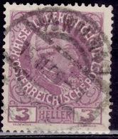 Austria 1908-16, Joseph II, 3h, Sc#112, Used - Used Stamps