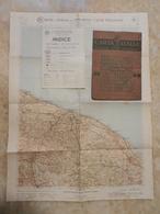 6) PUGLIA FOGLIO 38 BARI CARTA D'ITALIA DEL TOURING CLUB COMPLETO DI INDICE E BUSTA - Cartes Topographiques