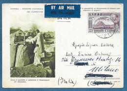 ETHIOPIA 1954 SU CARTOLINA ERITREA MISSIONE CATTOLICA - Etiopia