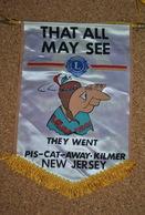 Rare Fanion Lion's Club New-Jersey USA - Organisations