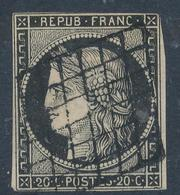 N°3 GRILLE 1849 VARIETE FILET ONDULE - 1849-1850 Cérès