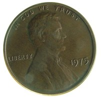 1975 - United States 1 Cent - KM# 201 - VF -- - Emissioni Federali