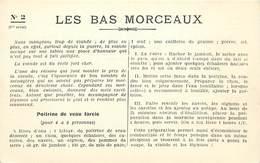 -ref-A986- Recettes - Federation Française De L Enseignement Menager - N° 2 - Les Bas Morceaux - Ecole - Ecoles - - Recettes (cuisine)