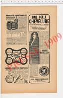 2 Scans Presse 1909 Publicité Hair Grower - John Craven-Burleigh Paris  223CH15 - Ohne Zuordnung