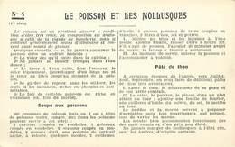 -ref-A985- Recettes - Federation Française De L Enseignement Menager - N° 4 - Poisson Et Mollusques - Ecole - Ecoles - - Recettes (cuisine)