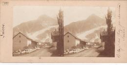 Carte Stéréoscopique .   Village Des Praz  Près Chamonix - Chamonix-Mont-Blanc
