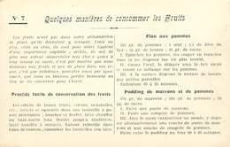 -ref-A983- Recettes - Federation Française De L Enseignement Menager - N°7 - Consommer Les Fruits  - Ecole - Ecoles - - Recettes (cuisine)