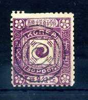 1895-99 COREA YV N.9 USATO - Corea (...-1945)