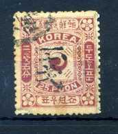 1902 COREA YV N.30 USATO - Corea (...-1945)