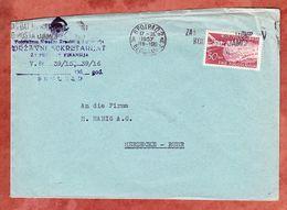 Brief, EF Flugzeug Dubrovnik, Belgrad Nach Herdecke 1957 (68578) - 1945-1992 República Federal Socialista De Yugoslavia