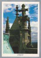NL.- UTRECHT. Domtoren. Pinakels Bovenop Lantaarn. Foto: Herman H. Van Doorn. - Kerken En Kathedralen