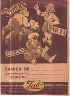 PROTEGE CAHIER ANCIEN.ENCOSTIQUE SEDUCTA.NICEA.BLANCNEIGE - Protège-cahiers
