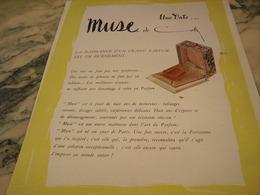 ANCIENNE PUBLICITE  PARFUM MUSE DE COTY 1946 - Parfums & Beauté