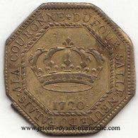 Corporations Professions Non Déterminées 1720. F5449. Laiton. Octo. 30mm. 9 Gr. R2. Sous Louis XV. - Royal / Of Nobility