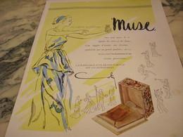 ANCIENNE PUBLICITE DE PARFUM  MUSE DE COTY 1946 - Parfums & Beauté