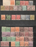 AUSTRALIA1915-31:Lot Of 44used,4mng*KANGAROOS&GEORGE V...color Varieties(2 With Inverted Wm.s,etc.) - Australia