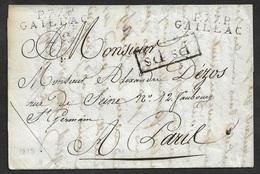 1813 - LAC - P.77.P GAILLAC X 2 (TARN) Port Payé -Ps.Ps Port Payé De Paris - 1801-1848: Précurseurs XIX