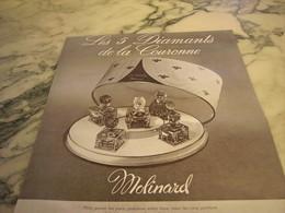 ANCIENNE PUBLICITE PARFUM 5 DIAMENTS DE LA COURONNE MOLINARD 1952 - Parfums & Beauté