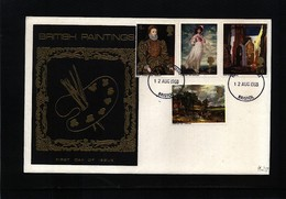 Great Britain 1968 British Paintings FDC - Lettres & Documents