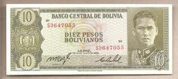 Bolivia - Banconota Non Circolata FdS Da 10 Pesos P-154a.17 - 1962 - Bolivia
