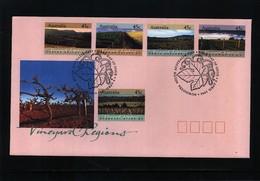 Australia 1992 Vineyard Regions FDC - Wein & Alkohol